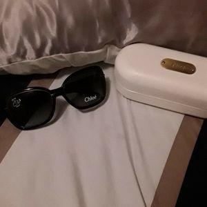 Chloe Accessories - NWT CHLOÉ AUTH BLACK LOGO ARMS SUNGLASSES W CASE